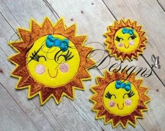 Smiling Sun Feltie Sweetie Sun Feltie Embroidery File