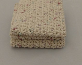 100% Cotton Crochet Washcloths