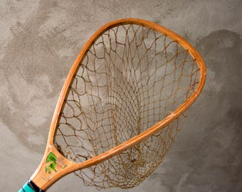 Vintage Wooden Fishing Net