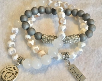 Faith-live the life you've dreamed -trio bracelet set