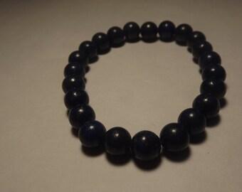 8mm Lapis Lazuli Bead Stretch Bracelet