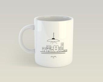 Mug - City light - Cup ceramic gift