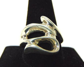 Womens Vintage Estate .925 Sterling Silver Ring 13.5g E3139