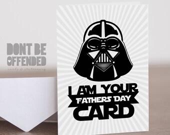 Star Wars Darth Vader Father's Day Card Funny Joke Banter Birthday Card