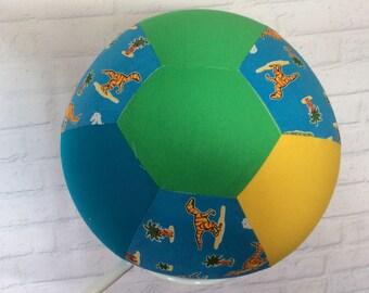 BALLOON BALL Cover..Handmade Cotton Fabric..Educational.. Sensory Play.. Special Needs Autism..Bouncy..Great Gift Idea.. Boys.. Dinosaurs