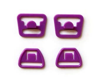 Maternity Bra Clips - Purple, Conversion to maternity bra for breastfeeding or replacement feeding bra parts