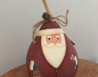 Painted Santa gourd