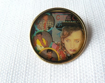 Vintage 80s Culture Club - Boy George - Colour By Numbers Album Dome Pin / Button / Badge