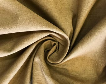 Golden Brown - Linen - Upholstery Fabric By The Yard