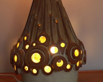 Vintage Pottery Table Lamp