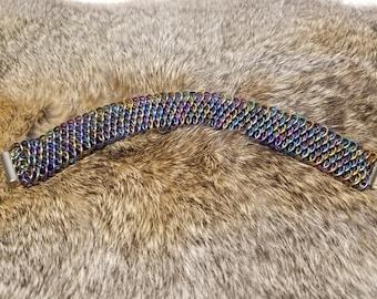Anodized Niobium Dragonscale Bracelet