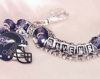 BALTIMORE RAVENS inspired Jewelry Bracelets necklaces
