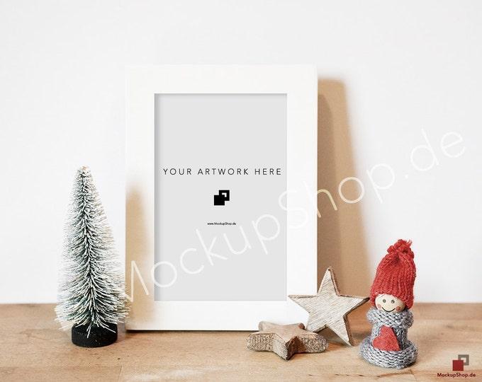 3 CHRISTMAS MOCKUP FRAMES - Set of 3 Christmas Frame Mockups / Merry Christmas Mockup / Merry Xmas Frame Mockup / Santa Claus Mockup
