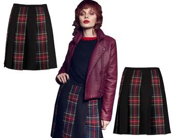 Stewart STRIPED TARTAN SKIRLT - fusion of Kilt and Skirt - mod kilt - mod skirt