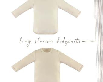 Baby Bodysuits, Organic Baby Bodysuits, Matching Set, Neutral Bodysuits, Long Sleeve Bodysuits, 2 Pack,Newborn Bodysuits, 0-3Months Bodysuit