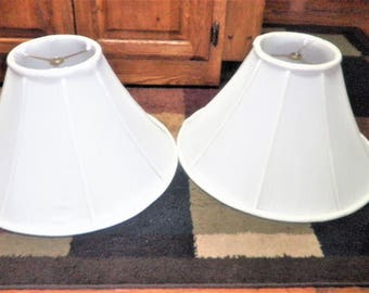 2 Vintage white 10 inch lamp shades