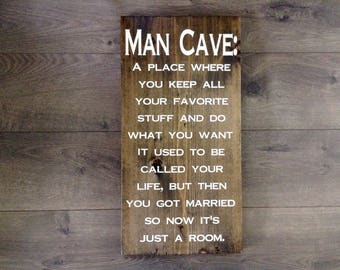 Man cave|man cave sign|man cave wall decor|man cave stuff|wedding gift|funny sign|fathers day gift|gifts for him|gifts for dad