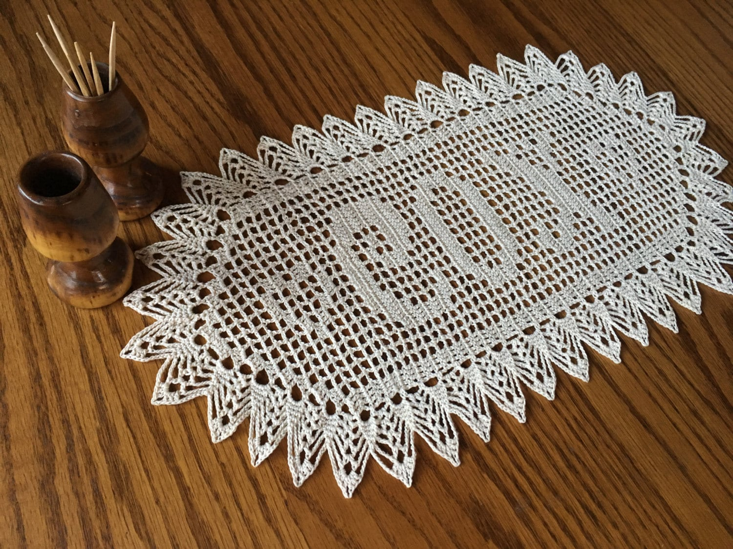 Crochet Wedding Gift: Personalized Crochet Wedding Gift Crochet Name Doily Unique