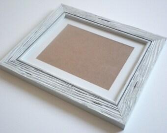 photo frame 8x8 frame distressed frame rustic frame driftwood frame shabby chic frame white framerusticframeshop