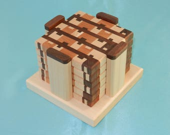 Wood End Grain Coasters - Set of 6 A