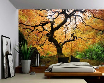 Maple Tree   Large Wall Mural, Self Adhesive Vinyl Wallpaper, Peel U0026 Stick