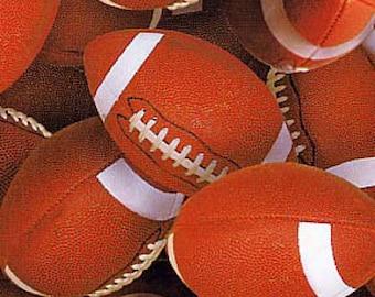 Footballs Stacked in All Over Design By Elizabeth Studios-BTY