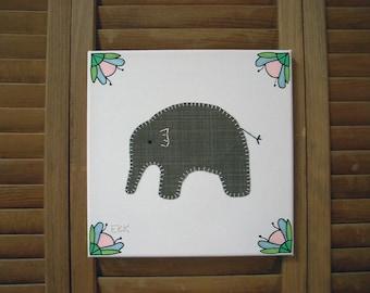 Baby Elephant #3 Fabric Wall Art