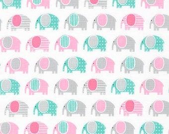 Ann Kelle Urban Zoologie Minis Elephants Pink (Half metre)