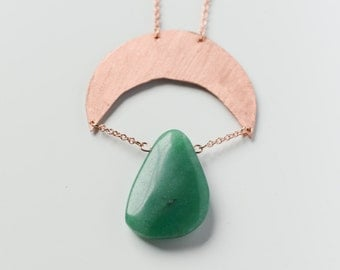 Copper moon with Aventuriun stone
