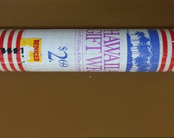2 rolls vintage Hawaiian Christmas wrapping paper