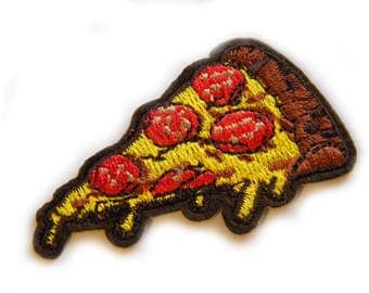 Pizza Slice Embroidered Patch Appliqué