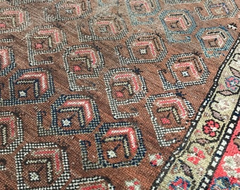"3'3""x9'3"" Vintage Persian Shiraz Runner"
