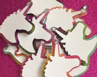 Unicorn rainbow cupcake toppers