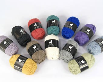 8ply Baby Alpaca Yarn - Variety of Colours - Packs of 10