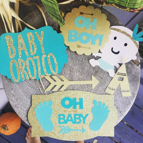 Oh baby baby shower die cuts paper craft supplies custom for Baby shower paper crafts