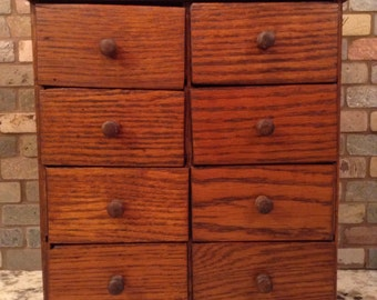 Antique Handcrafted Apothecary~Spice Cabinet~1920s