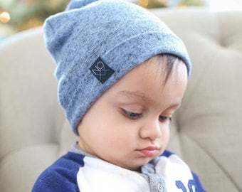 Ultra Soft Baby Beanie / Light Blue Slouchy Beanie / Warm and Cozy Hat