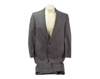 Vintage Mens Brownish Grey Christian Dior Two Piece Suit Size 42