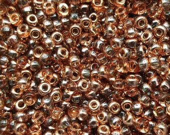 Unions 6/0 Japanese Seed Beads - Crystal Capri Gold  06-131-27101- 20 grams