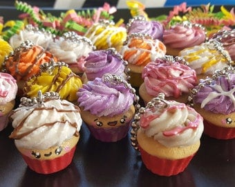 Mystery Cupcake Egg / Handmade / Cupcake / Keychains / Charms