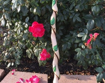 Twisted Sycamore Wood Wand