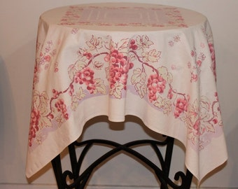 Pinks, Purples, Grapes and Vines Kitchen Tablecloth