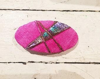 Vintage Back Stock Hot Pink Spring Hair Barrette