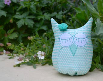 May Owlie of the Month shelfie owl