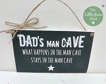 Personalised Man Cave Plaque Sign Birthday/Fathers Day Gift