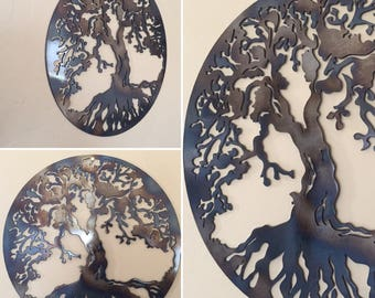 Tree of Life Metal Wall Art Decor