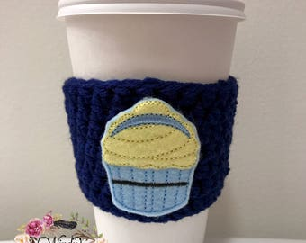 "The ""Princess Cupcake"" Cozies / Coffee Cozie / Tea Cozie / Tumbler Cozie / Crochet Cozie"