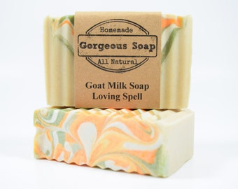 Loving Spell Goat Milk Soap - All Natural Soap, Handmade Soap, Homemade Soap, Handcrafted Soap