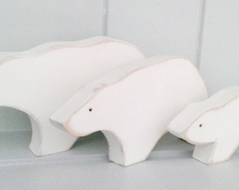 Wooden Polar Bear Set