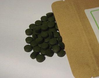 Organic Chlorella Tablets - 100g (chlorophyll, supergreens, superfood)